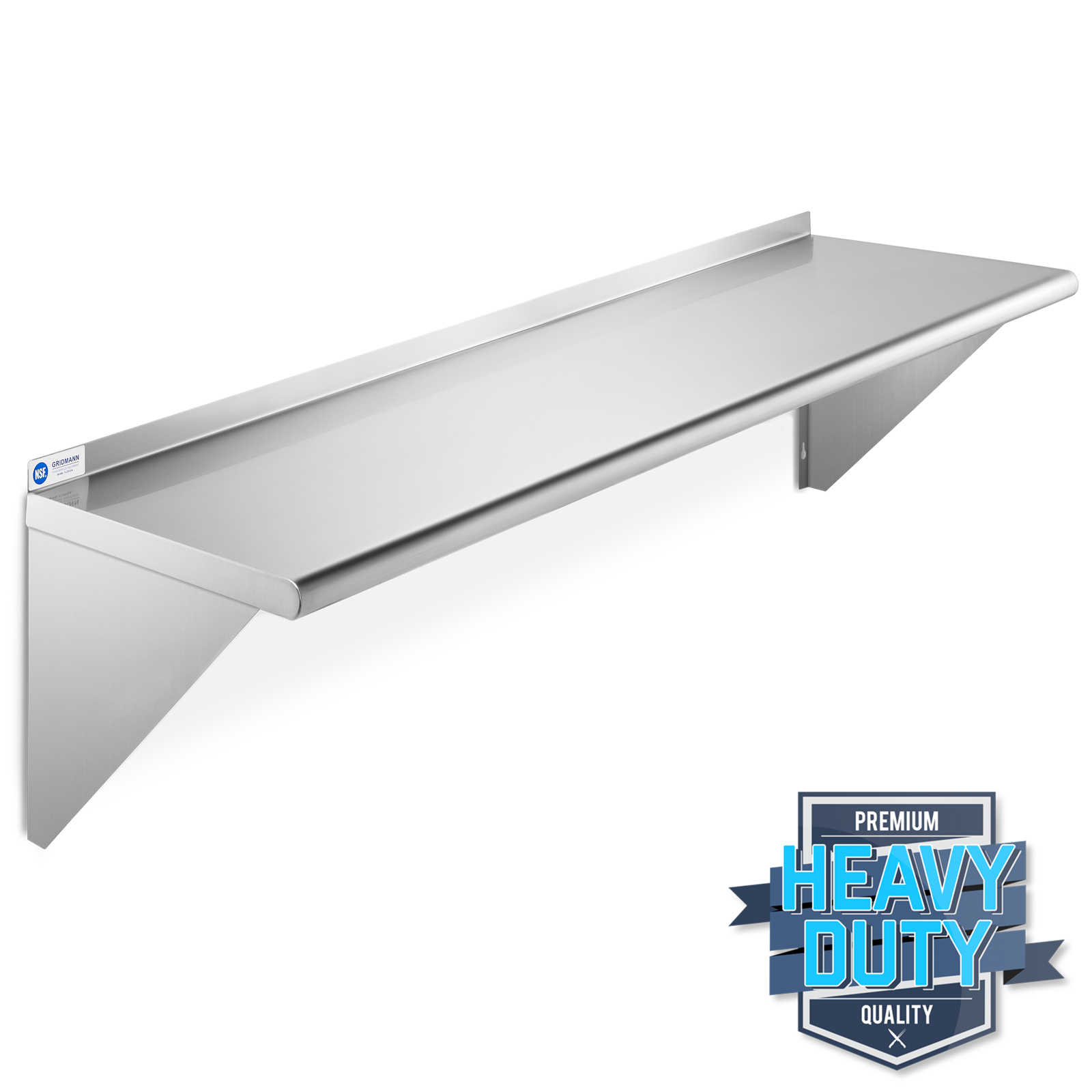 Details about Stainless Steel Commercial Kitchen Wall Shelf Restaurant  Shelving - 12\